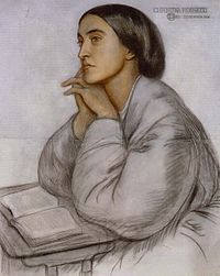 Christina Rossetti by her brother, Dante Gabriel Rossetti