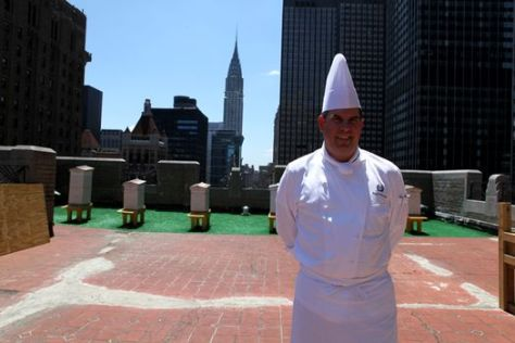 Executive-chef-David-Garcelon-on-the-roof-of-the-Waldorf-Astoria