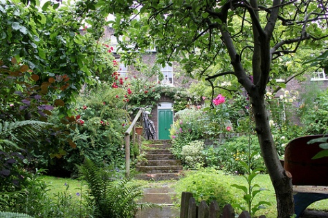 Cottage Garden with Apple Tree