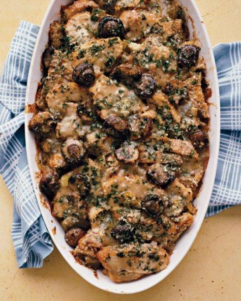 turkey leek and mushroom casserole